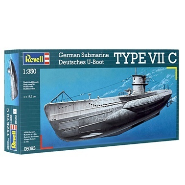 Revell  Maket Seti 1:350 U-Boot Typ VIIC 5093 Renkli